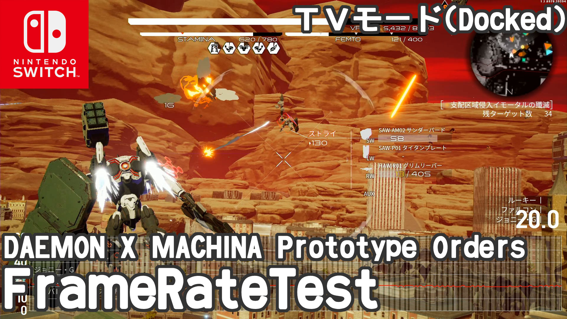 DAEMON X MACHINA Prototype Orders フレームレート検証