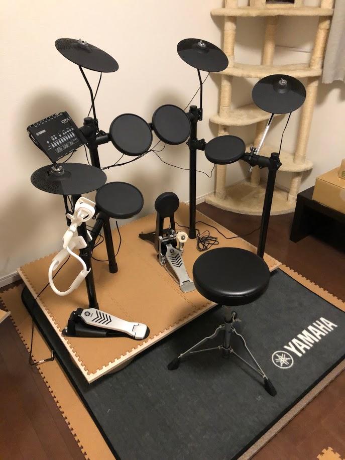 ヤマハのドラムセット(DTX432KUPGS)の防音・防振対策をしました